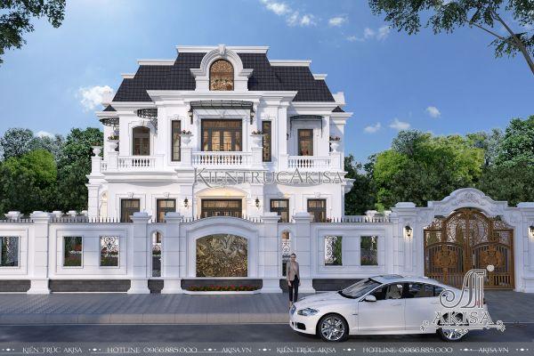 Mẫu nhà tân cổ điển 2 tầng kiểu Pháp đẹp (ông Dũng - Quảng Nam) BT22158