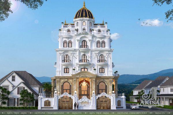 Thiết kế lâu đài đẹp tân cổ điển Pháp (CĐT: Ông Sang – Bắc Kạn) BT72304