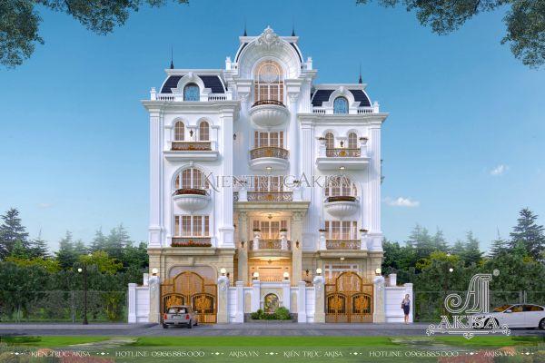 Thiết kế biệt thự kiến trúc Pháp 5 tầng tại Hà Nội BT52006
