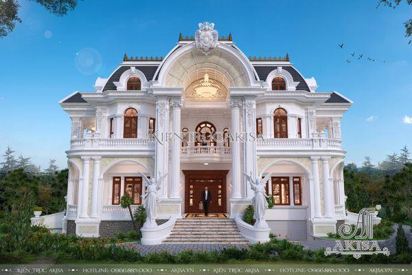 Biệt thự dinh thự kiểu Pháp 2 tầng đẳng cấp quý tộc (ông Long - Sơn Tây) BT22296