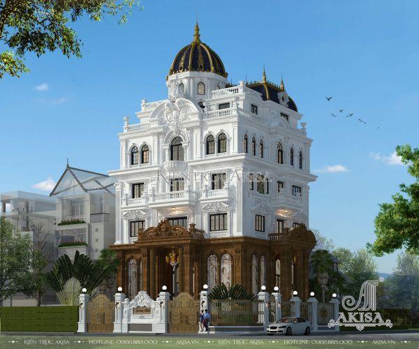 Thiết kế lâu đài biệt thự Pháp (CĐT: ông An - Nghệ An) BT52130