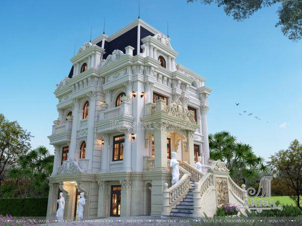Thiết kế biệt thự lâu đài cổ điển Pháp đẹp (ông Toán - Thanh Hóa) BT43258