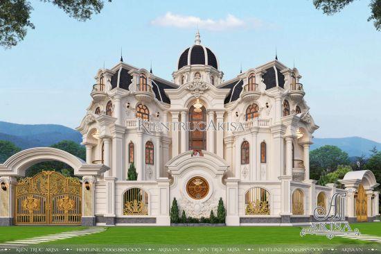Mẫu lâu đài biệt thự Pháp 4 tầng đẳng cấp (CĐT: ông Sĩ - Bắc Kạn) BT42314