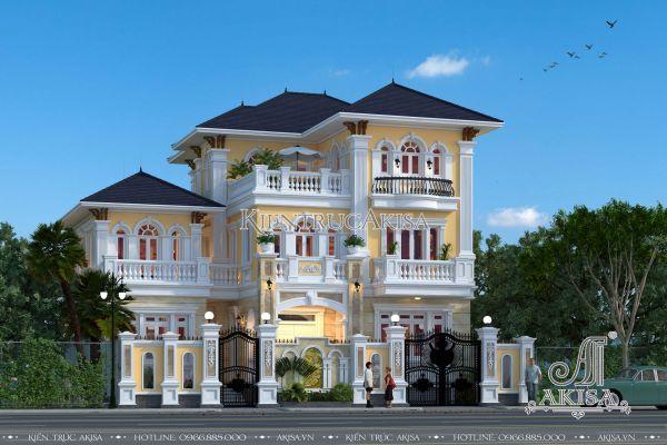Biệt thự 3 tầng kiến trúc tân cổ điển đẹp 16x16m (CĐT: bà Vân - Hải Dương) BT32024