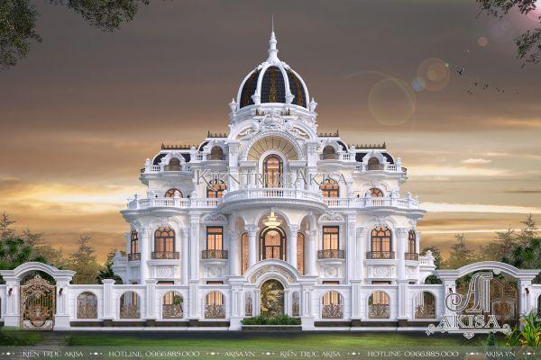 Mẫu lâu đài dinh thự kiểu Pháp 3 tầng (CĐT: ông Lý - Hà Nam) BT32315