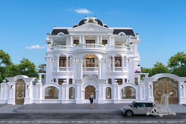 Kiến trúc biệt thự tân cổ điển pháp 3 tầng 18x12m (ông Đức - Phú Yên) BT32114