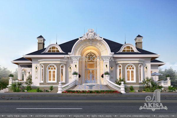 Thiết kế biệt thự 1 tầng tân cổ điển Pháp (cđt: anh Dư - Bình Dương) BT12224