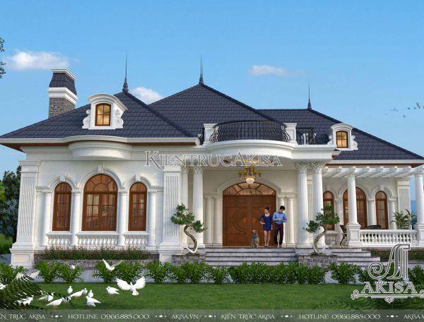 Mẫu nhà biệt thự nhà vườn 1 tầng mái Nhật đẹp (CĐT: ông Khái - Quảng Ninh) BT12218