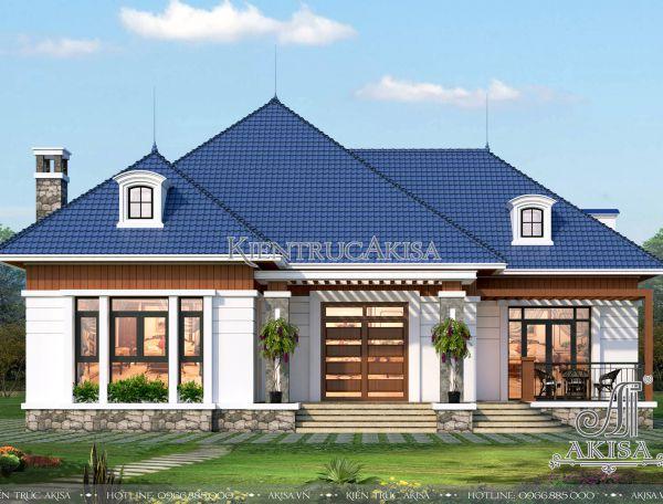 Thiết kế biệt thự 1 tầng đẹp hiện đại (Bà Hiền – Bắc Ninh) BT11223