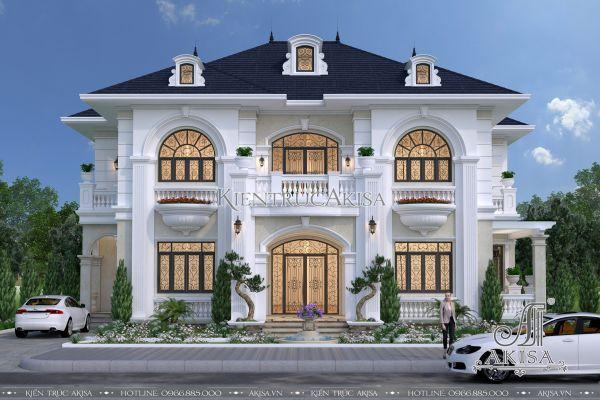 Vẻ đẹp mẫu biệt thự tân cổ điển 2 tầng 200m2 (CĐT: ông Hùng - Lạng Sơn) BT22302
