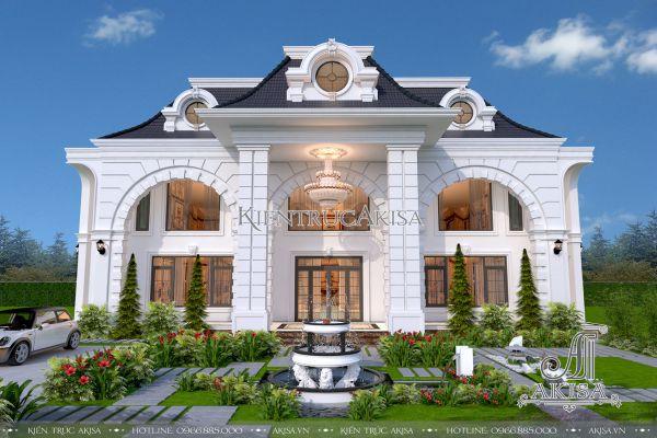 Mẫu biệt thự 2 tầng tân cổ điển Pháp đẹp sang trọng (CĐT: ông Cần - Bắc Giang) BT22112