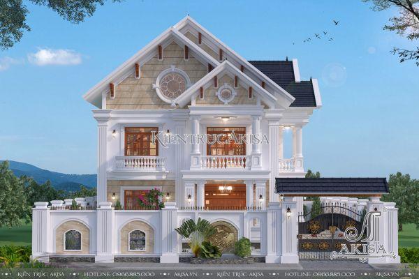 Mẫu biệt thự 2 tầng mái Thái 4 phòng ngủ đẹp mặt tiền 12m (CĐT: ông Hợp - Hưng Yên) BT22293