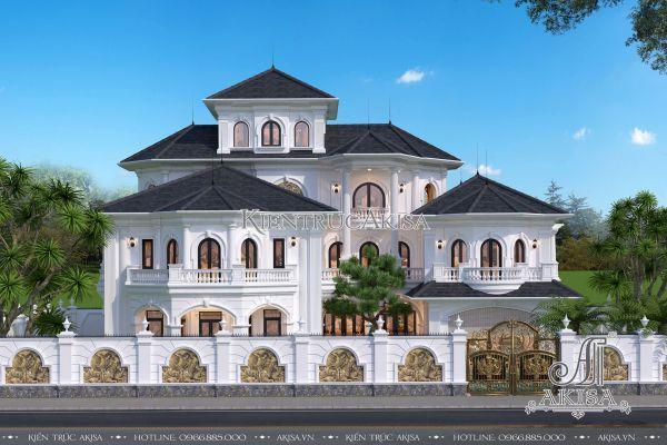 Thiết kế biệt thự 3 tầng phong cách châu Âu đẹp ấn tượng (CĐT: ông Tú - Nam Định) BT32321