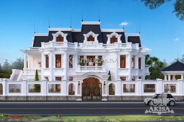 Biệt thự kiến trúc Pháp 3 tầng kết hợp kinh doanh (CĐT: ông Phúc - Thái Nguyên) BT32294