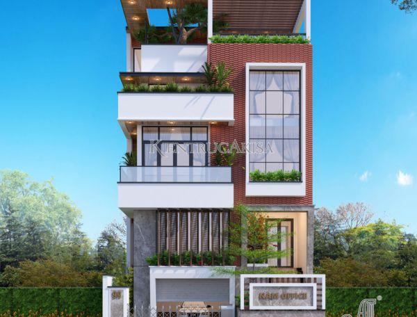 Mẫu nhà ở hiện đại 5 tầng kết hợp văn phòng (CĐT: ông Nam - Quảng Ninh) KT51310