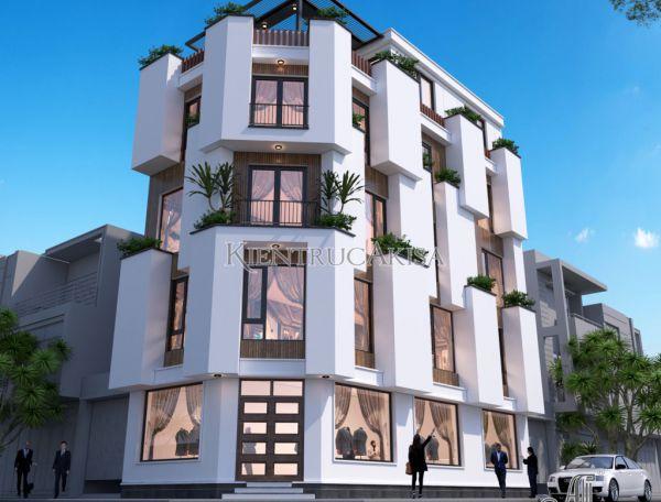Thiết kế homestay 5 tầng hiện đại KT51307 (CĐT:ông Đại - Hòa Bình)