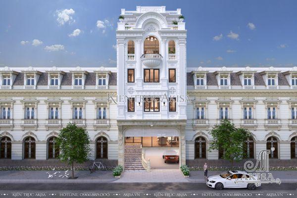 Thiết kế nhà phố kết hợp văn phòng mặt tiền 8m KT62030