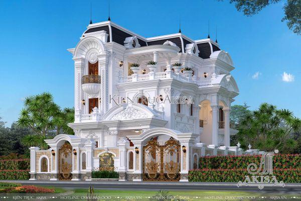 Kiến trúc biệt thự Pháp 3 tầng nguy nga tráng lệ (CĐT: ông Cường - Hà Giang) BT32289