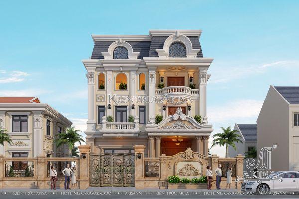 Vẻ đẹp biệt thự tân cổ điển Pháp 3 tầng tại Nghệ An (CĐT: ông Sơn - Nghệ An) BT32063