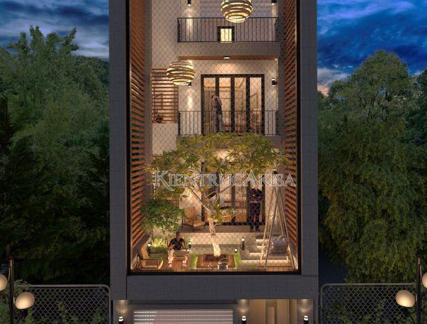 Mẫu nhà phố hiện đại 4 tầng (CĐT: ông Vĩnh - Bắc Ninh) KT41140