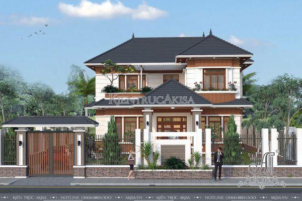 Mẫu biệt thự 2 tầng hiện đại mái Nhật (CĐT: ông Minh - Khánh Hòa) BT21159