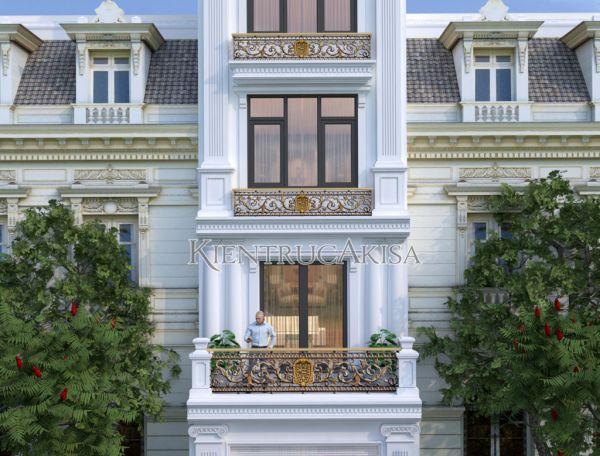 Mẫu nhà phố 5 tầng phong cách tân cổ điển đẹp KT52115-3