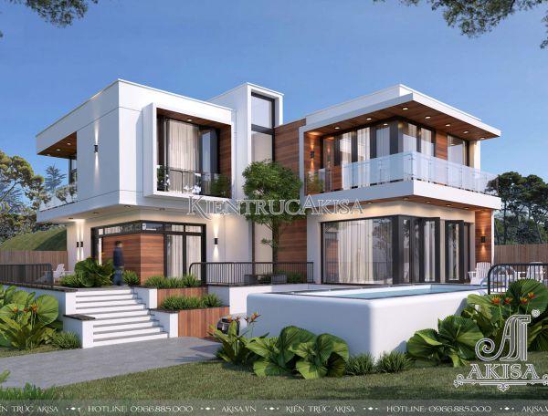 Khác biệt cùng thiết kế biệt thự 2 tầng hiện đại (CĐT: ông Huy - Hà Nội) BT21338
