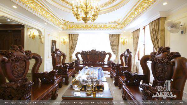 Thi công nội thất biệt thự tân cổ điển đẹp (CĐT: Ông Sơn – Nghệ An) TC32063-NT