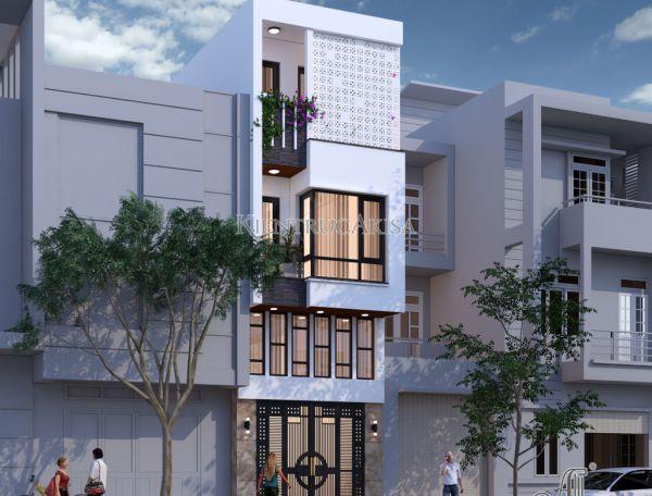Thiết kế nhà phố hiện đại mặt tiền 4m (CĐT: bà Hoan - Bắc Ninh) KT41153