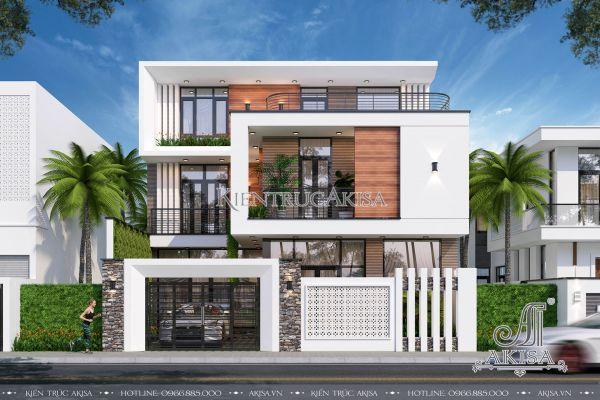 Thiết kế biệt thự hiện đại 3 tầng (CĐT: ông Dương - Quảng Ninh) BT31334