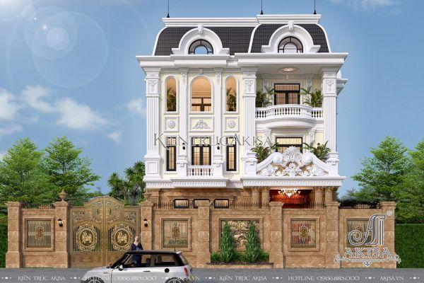 Vẻ đẹp đẳng cấp biệt thự phong cách Pháp 3 tầng (CĐT: ông Sang - Nghệ An) BT32193