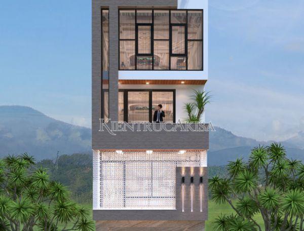 Mẫu nhà phố hiện đại 5 tầng có thang máy (CĐT: ông Trường - Nam Định) KT51038