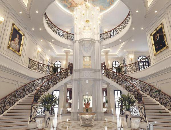 Thiết kế nội thất tân cổ điển biệt thự cực ấn tượng (CĐT: ông Phúc - Thanh Hóa) NT12059