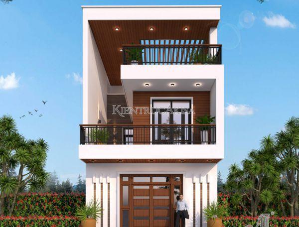 Mẫu nhà phố 3 tầng đẹp mặt tiền 6m tại Hải Dương KT31353