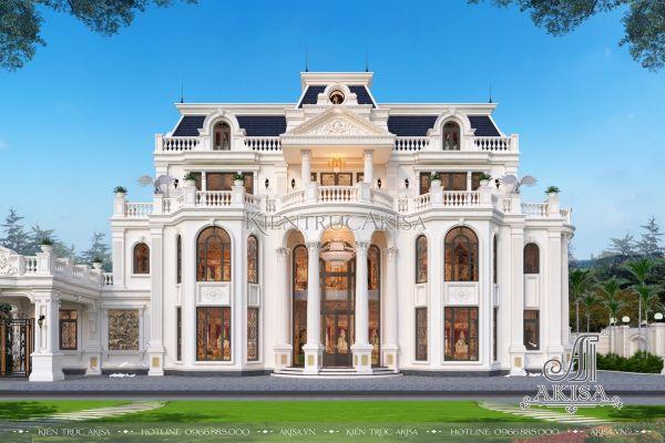 Mẫu dinh thự tân cổ điển 3 tầng đẹp (CĐT: bà Tâm - Huế) BT32361