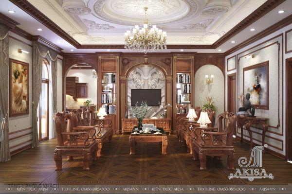 Thiết kế nội thất tân cổ điển đẹp (CĐT: ông Hiếu - Quảng Bình) NT12342