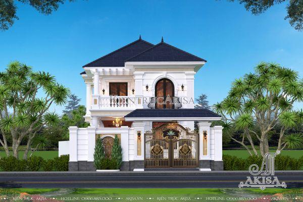 Mẫu nhà đẹp 2 tầng tân cổ điển (CĐT: ông Tuyền - Củ Chi) BT22351