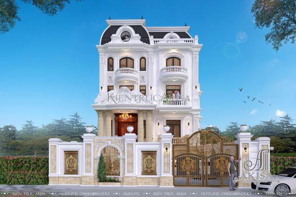 Mẫu biệt thự kiểu Pháp đẹp 4 tầng (CĐT: ông Thanh - Hà Nội) BT42365