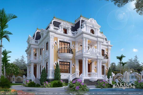 Tuyệt tác dinh thự biệt thự cổ điển Pháp 2 tầng (ông Lộc - Tiền Giang) BT23357