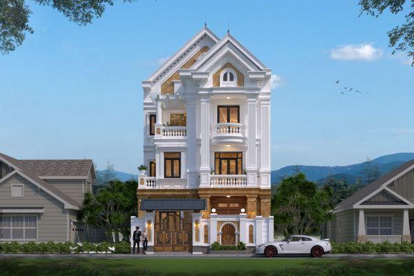 Mẫu biệt thự phố 3 tầng mái Thái đẹp (CĐT: ông Hải - Ninh Bình) BT32352