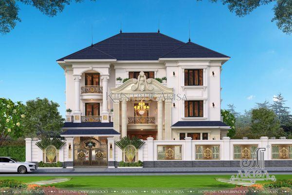 Mẫu biệt thự đẹp 3 tầng tân cổ điển (CĐT: ông Lưu - Quảng Bình) BT32354