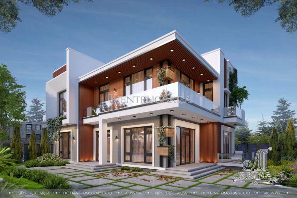 Mẫu biệt thự nhà đẹp 2 tầng hiện đại 220m2 (CĐT: ông Công - Hồ Chí Minh) BT21377