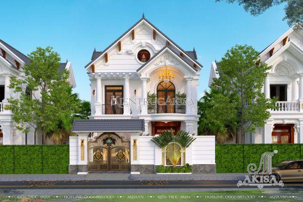 Mẫu nhà 2 tầng mái Thái 4 phòng ngủ phong cách tân cổ điển (CĐT: ông Thọ - Thanh Hóa) BT22382