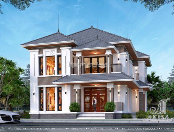 Mẫu biệt thự đẹp 2 tầng phong cách hiện đại (CĐT: ông Cần - Nam Định) BT21375
