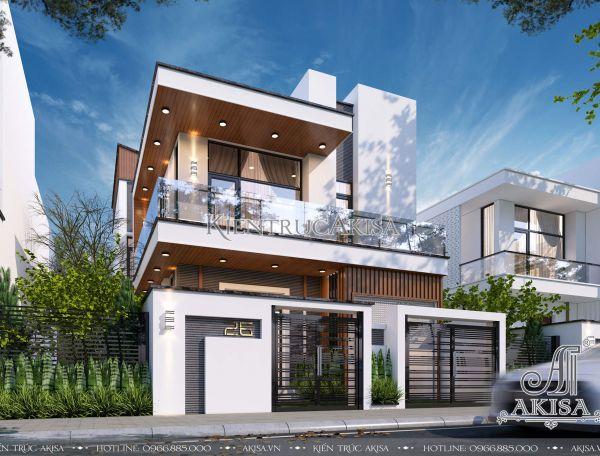 Mẫu nhà biệt thự 2 tầng hiện đại mái bằng mặt tiền 8m (CĐT: ông Đô - Hà Nội) BT21336