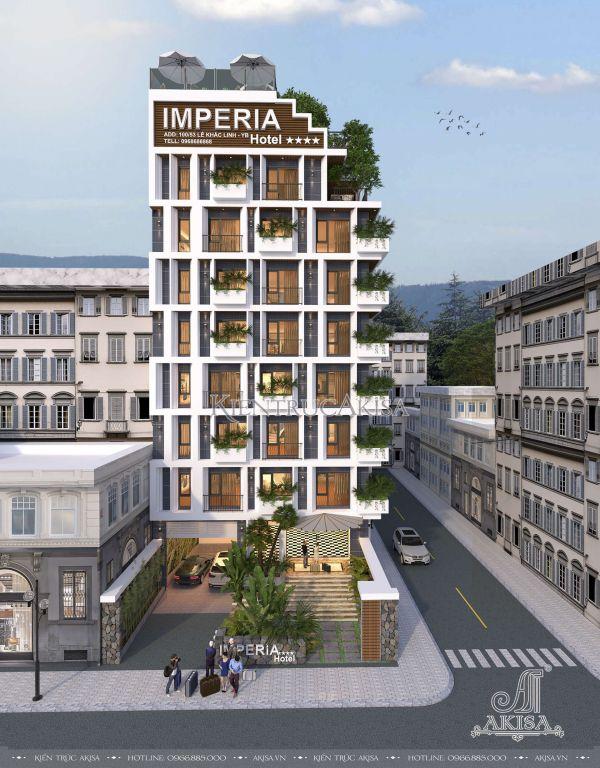 Thiết kế khách sạn 9 tầng hiện đại đẳng cấp 3 sao ( CĐT: ông Linh - Yên Bái) KT91147