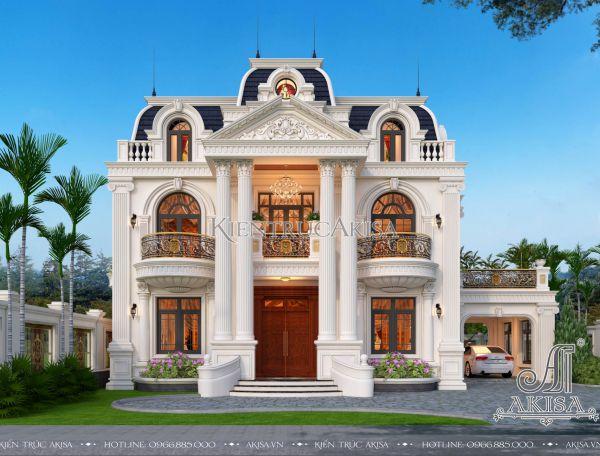 Biệt thự vườn tân cổ điển kiểu Pháp 2 tầng đẳng cấp (CĐT: ông Hồng - Phúc Thọ) BT22390