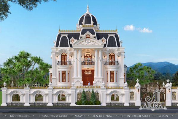 Mẫu lâu đài Pháp 3.5 tầng tân cổ điển siêu ấn tượng (CĐT: ông Sơn - Nghệ An) BT32391