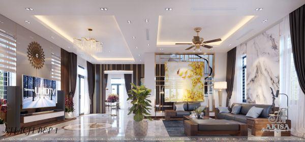 Thiết kế nội thất nhà đẹp phong cách hiện đại (CĐT: ông Tùng - Thái Nguyên) NT22326