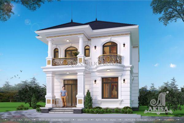 Mẫu nhà biệt thự 2 tầng đẹp tại Thanh Oai (CĐT: ông Mỹ - Hà Nội) BT22367